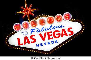 Las Vegas Sign a night - Welcome to fabulous Las Vegas sign...