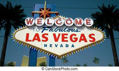 Las Vegas Sign, Centered Rotating Crash Zoom