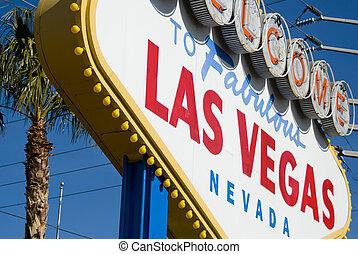 Las Vegas sign closeup