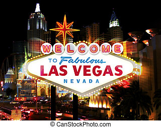 Las Vegas Sign Digital Illustration