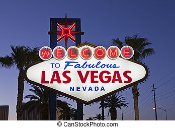 Las Vegas Sign Night