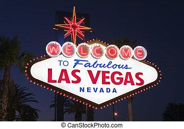 Las Vegas Sign Night Tight