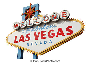 Las Vegas Sign - Welcome to Las Vegas sign isolated over...