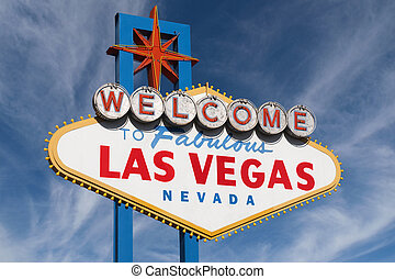 Las Vegas Sign with High Clouds