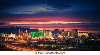 Las Vegas Skyline at Dusk