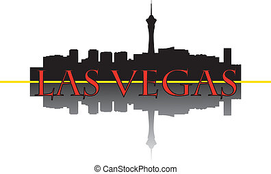 Las Vegas skyline - City of Las Vegas high-rise buildings...