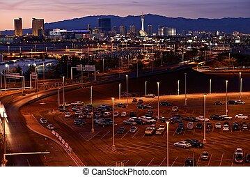 Las Vegas Skyline in Sunset