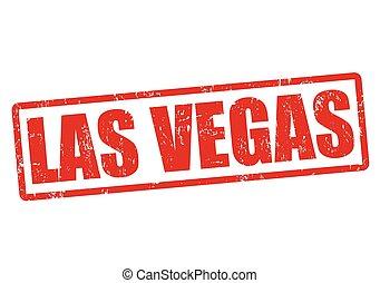 Las Vegas stamp - Las Vegas grunge rubber stamp on white,...