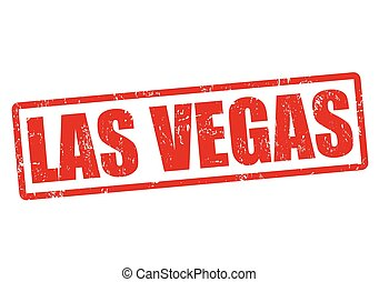 Las Vegas stamp - Las Vegas grunge rubber stamp on white,...