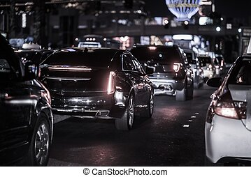 Las Vegas Strip Evening Traffic