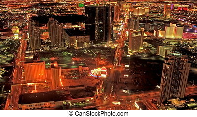 Las Vegas Strip View Panning - High definition time lapse of...