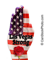 Las Vegas Strong. - Las Vegas Strong with hand and red rose.