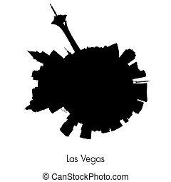 Las Vegas vector circular skyline