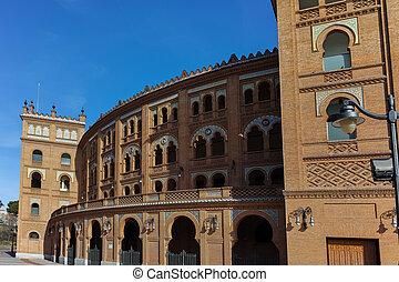 Las Ventas Bullring in City of Madrid, Spain