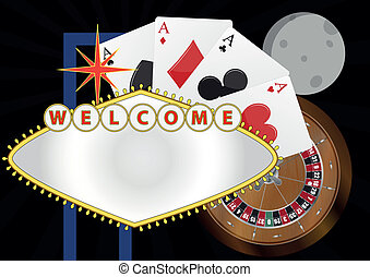 las welcome night - illustration of welcome billboard with...