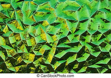 &, lasca, amarela, vidro, verde, texture.