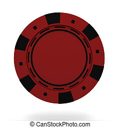 lasca, cassino, isolado, único, fundo, branco vermelho