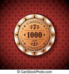 lasca pôquer, 1000, ligado, experiência vermelha
