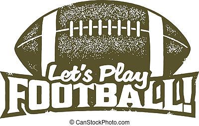 lasciarli, gioco, football