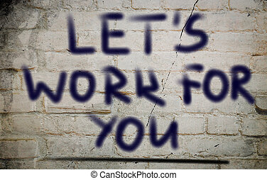 lasciarli, lei, concetto, lavoro