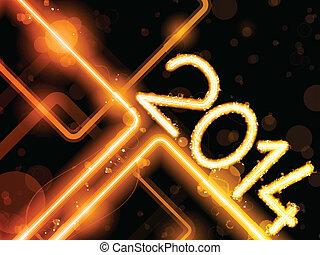 laser, 2014, lignes, fond, néon, jaune, orange