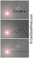laser, abstract, illustratie, achtergrond., ijzer, snijder