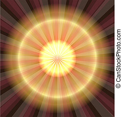 laser, astratto, dorato, luce