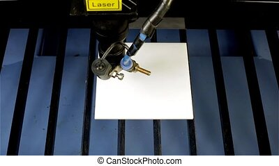 Laser beam cut word ACRYLIC