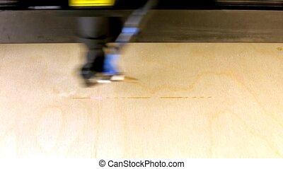Laser beam engraving word laser