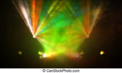 Laser beamer projector