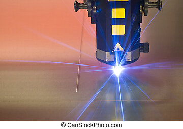 laser, bitande maskin, teknologi