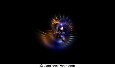 laser, chaîne, lumière, raie, rayons