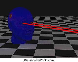 yeux laser femme laser elle rayons eyes pousses illustrations de stock rechercher. Black Bedroom Furniture Sets. Home Design Ideas