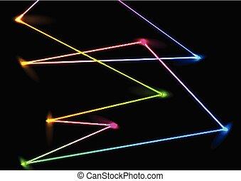 laser, coloré, néon, résumé, lignes, fond