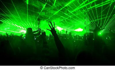 laser, concierto, exposición
