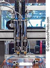 laser, cortador, em, um, fábrica