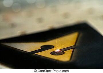 laser, cortador, gravura, ornamento