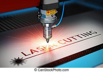 laser, corte, tecnología