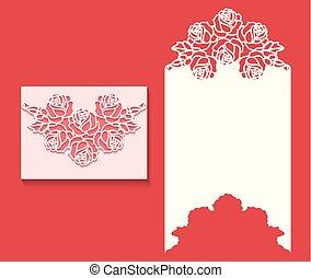 Laser cut envelope template for invitation wedding card1.eps