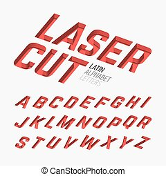 Laser cutted alphabet illustration