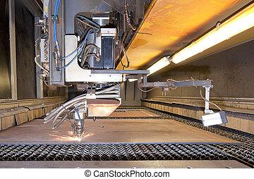 Laser cutter - Automatic Laser cutting machine, starting to...