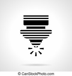 Laser cutting machine glyph style vector icon - Abstract...
