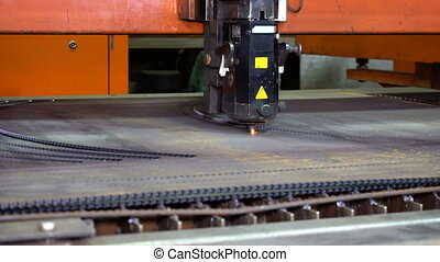 Laser cutting of metal on the CNC machine