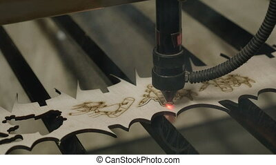 Laser cutting on wood - Laser cutting on the wood.
