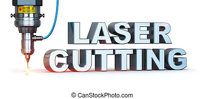 Laser cutting technology - Laser cutting text metal industry...