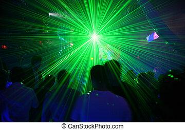 laser, discoteca, 2