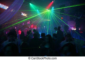 laser, discoteca