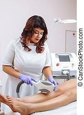 Laser epilation and cosmetology.
