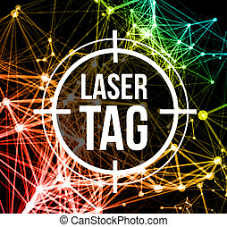 laser, etiqueta, blanco