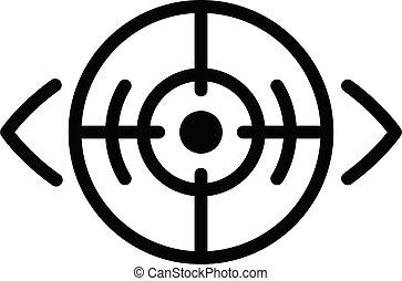 Laser eye correction icon, outline style